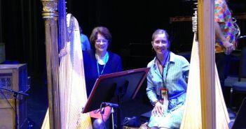 Co-principal harpist Margarita Csonka Montanaro (left with principal harpist Elizabeth Hainen) has retired after 51 years with The Philadelphia Orchestra.