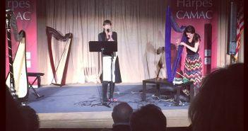 Addi and Jacq at the Princeton Harp Festival 2015